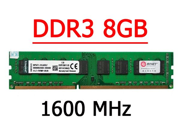 Память DDR3 8Gb PC3-12800 1600/1333MHz Kingston