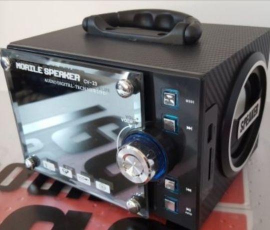 Głośnik drewniany radio odtwarzacz mp3 bluetooth z pilotem usb aux