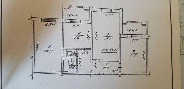 3-х кімнатна квартира в Тисмениці