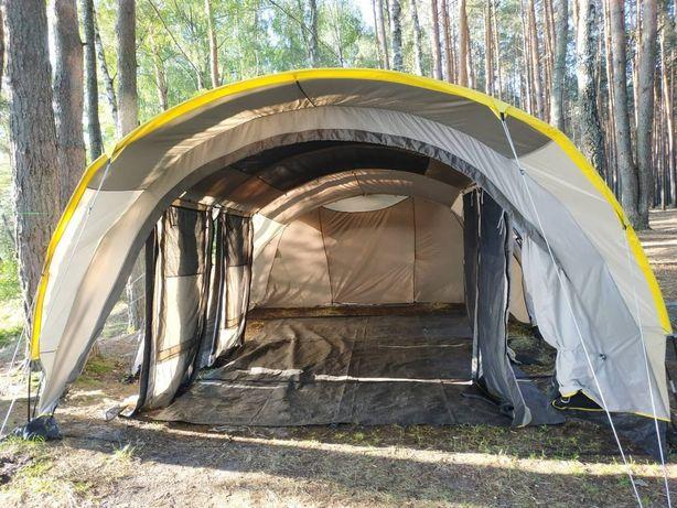 Большая хорошо проветриваемая палатка для кемпинга quechua 6.2 xl air