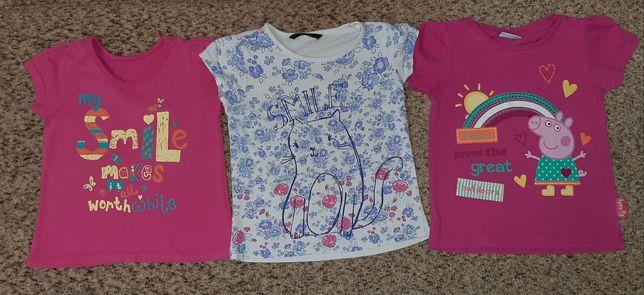 Футболка фирменные футболки для девочки, р.86-92