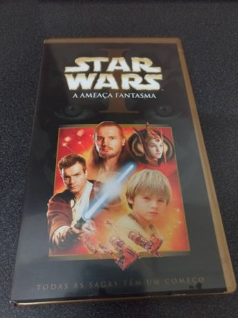 Cassete VHS Star Wars 1 - A Ameaça Fantasma