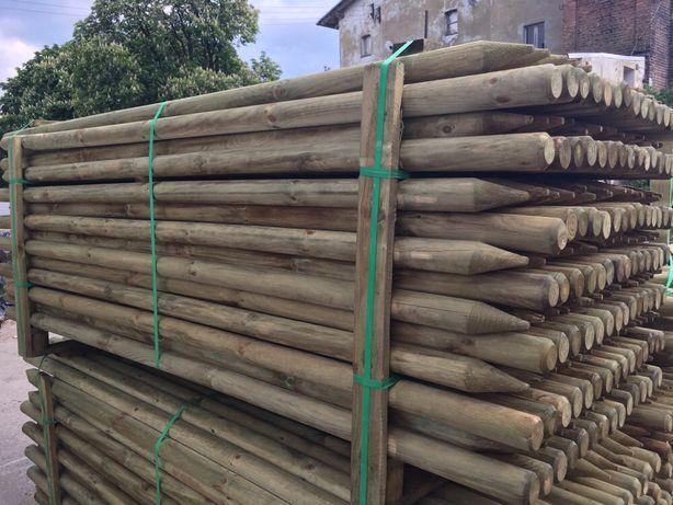 Słupki toczone do drzewek fi 6cm 2,5m ze Swadzimia