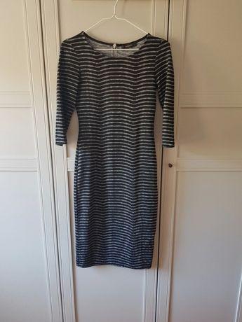 Dopasowana sukienka, Reserved ołówkowa sukienka czarna sukienka