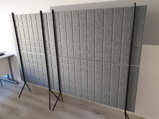 Ścianka podłogowa SPLIT, 800x1500 mm, szary