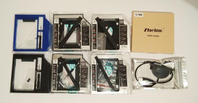 Карман переходник второго HDD2.5 SATA3.0 оптибей 9.5мм 12.7мм Optibay