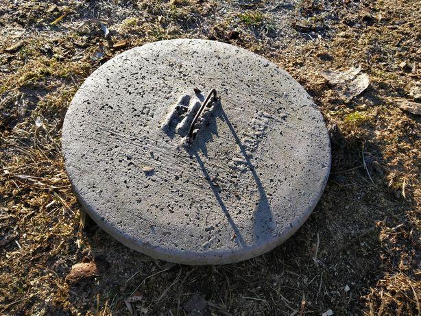 Właz pokrywa zalepia betonowa studni szamba z uchwytem bdb 53cm