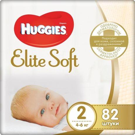 Подгузники Памперсы Huggies Elite Soft 82 штуки 2