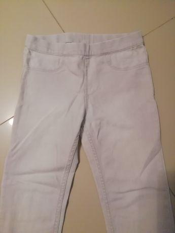 Legginsy jeansowe HM 128 jasnoszare