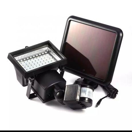 Lampa solarna 60 LED z czujnikiem ruchu i zmierzchu oraz czasu naświet