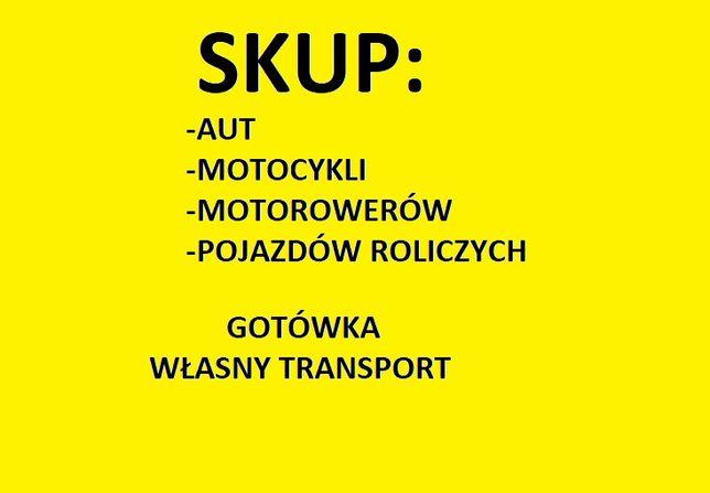 Skup aut, motocykli. motorów pojazdów, busów Głogów okolice samochodów