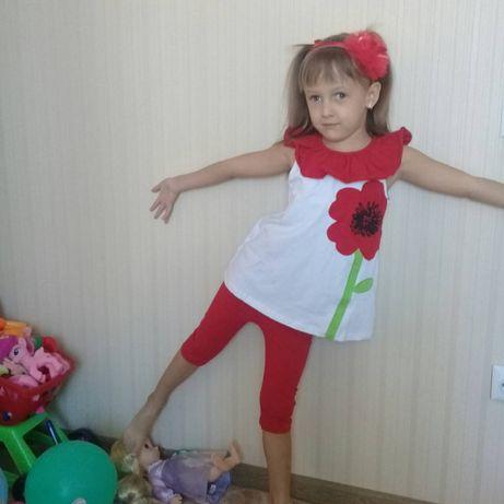 Продам летний костюм на 5-6 лет