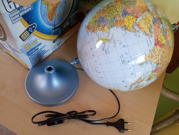 Podświetlany globus polityczno-fizyczny 25 cm