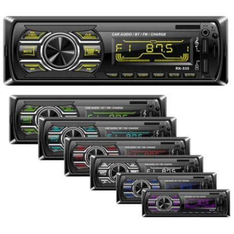 Auto Rádio Bluetooth USB SD AUX MP3 | 7 cores - Novos em loja