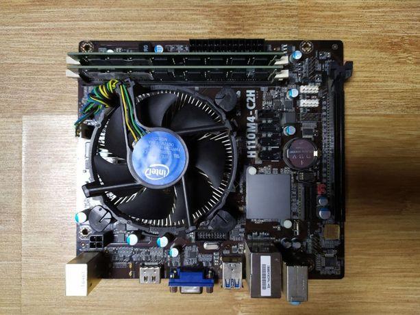 Материнская плата + процессор + оперативная память + блок питания