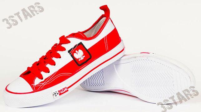 Biało czerwone trampki kibica MUNDIAL r 37
