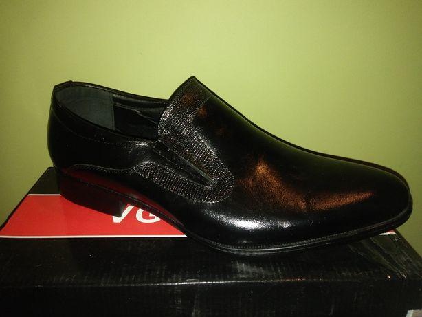 Eleganckie buty męskie wsuwane 44, 45, 46