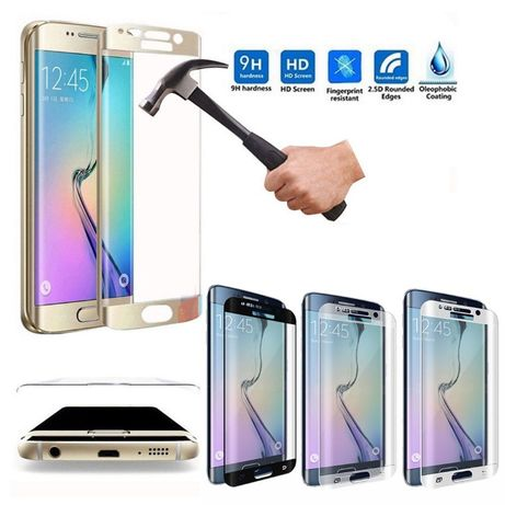 Samsung Galaxy S7 EDGE Película de Vidro Temperado CURVA Anti Quebra