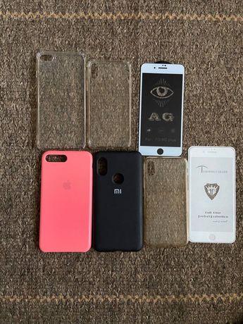 Чехлы и защитные стекла для Iphone 7+/8+, X, Xiaomi