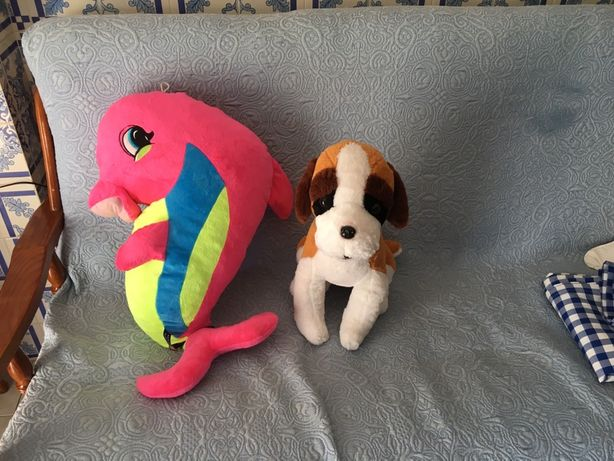 2 peluches grandes- 10€ os dois