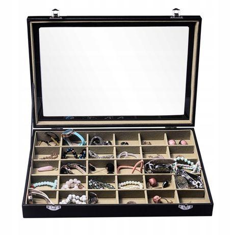 Szkatułka pudełko organizer na biżuterię taca E5