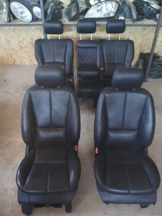 W163 салон кожаный черный сидения память сидений Одесса - изображение 1