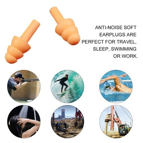 Беруши силиконовые многоразовые для сна противошумные плавания ушей