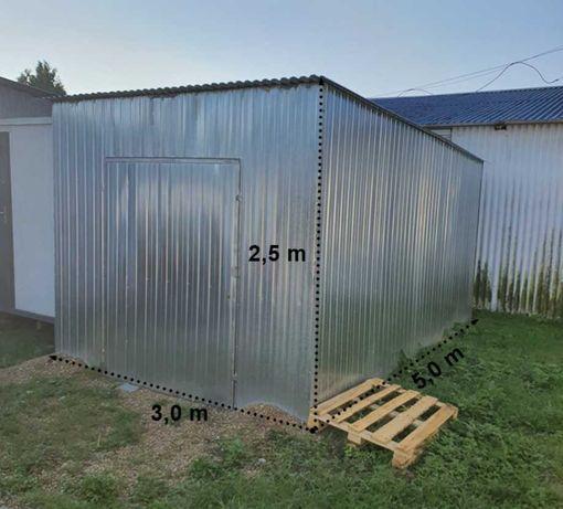 OD RĘKI! Garaż blaszak na magazyn na budowę PODWYŻSZONY jak nowy 3x5 m