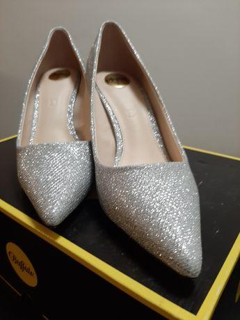 Buffalo  Fanny 2 Glitter  Silver rozmiar 36 europejski