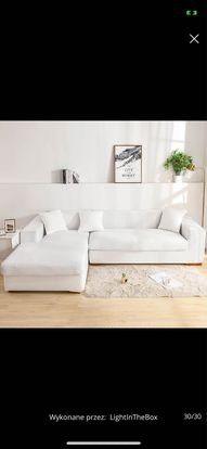 Biale pokrowce na kanapy