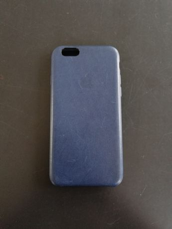 Iphone 6 leather case (Granatowy)