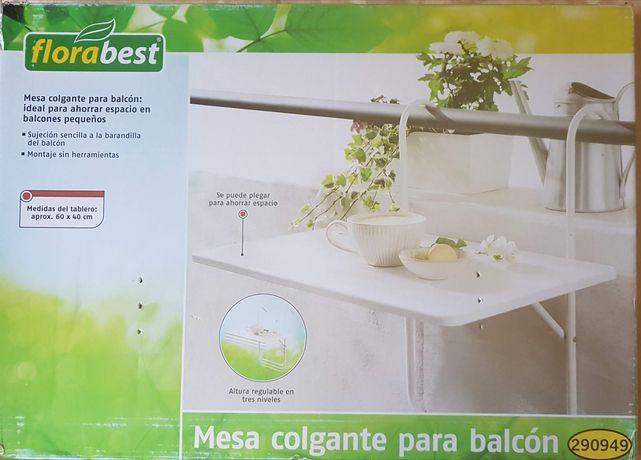 Mesa de varanda para pendurar dobrável para poupar espaço