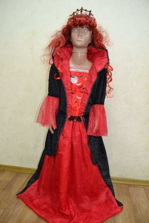 платье вампирши, ведьмы на праздник хеллоуин, halloween 11-12 лет