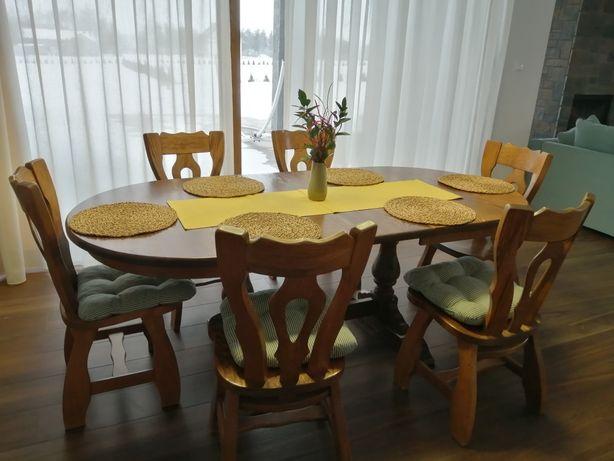 Stół dębowy rozkladany typu holenderski