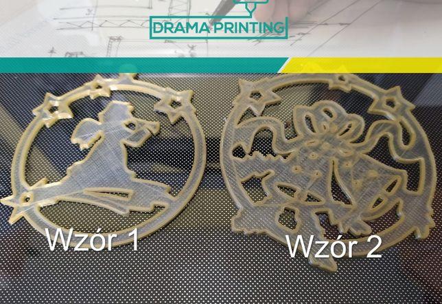 OZDOBY Świąteczne, różne wzory - Dwukolorowy druk 3D