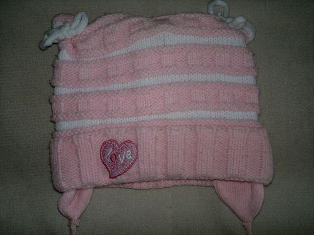 Продам шапку осень-зима для девочки на возраст 1-1,5 года