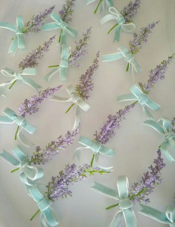 Лаванда бутоньерки на свадьбу /Весільний декор/Свадебный декор тиффани