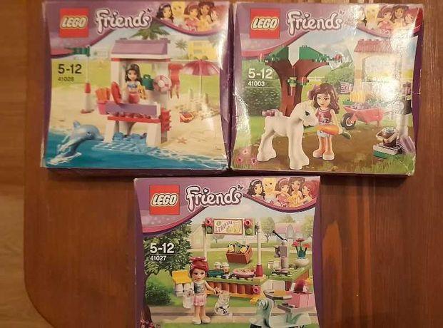 3 zestawy Lego Friends