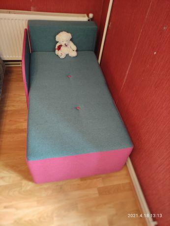 Диван кровать рожево-зелена