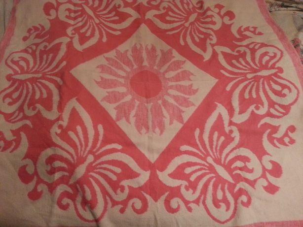 Детское одеяло бело розовое