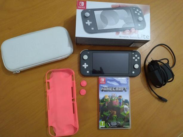 Nintendo switch lite com jogo