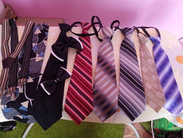 Набор галстуков для школьника+подтяжки