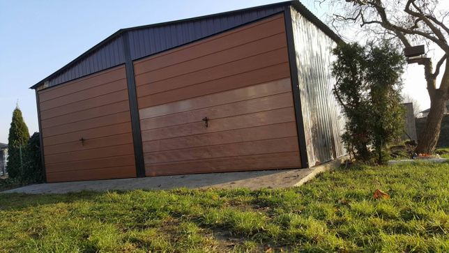 Wzmocniony 6x5 garaż blaszany BRAMY UCHYLNE blaszak, blaszaki