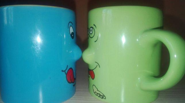 Kubki małe śmieszne ceramika dla par emoji emotki