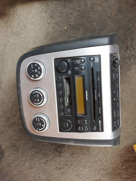 Radio nissan murano kompletne panel nawiewu klimatyzacji