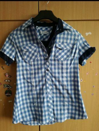Koszula w kratę, krótki rękaw