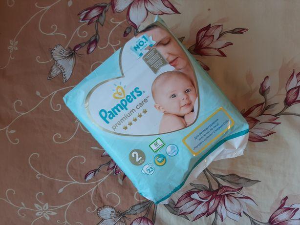 Продам набор подгузников  Pampers Premium Care 2