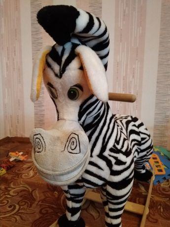 Каталка-зебра качалка