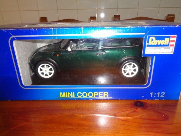 Mini Cooper 1:12 Miniatura Caixa Mede 42cm Espectacular