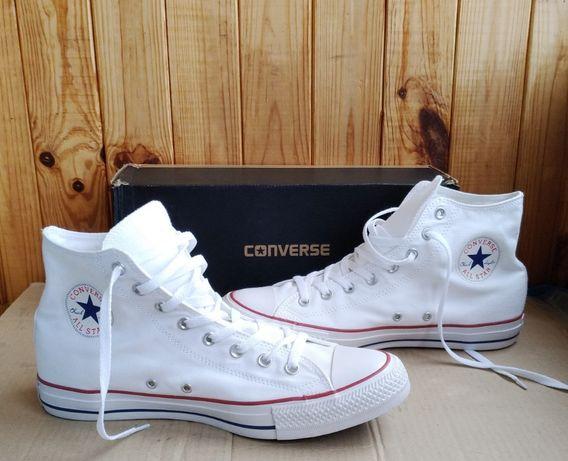 Стильные высокие белые кеды Converse All Star Chuk Taylor оригинал